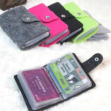 Women Felt Pouch ID Card Credit Card Wallet Cash Holder Case Bag Organizer AL