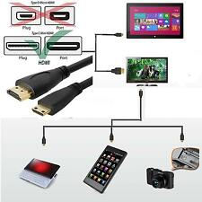 Mini HDMI Male to HDMI Male Type A to C 10ft 3ft Cable for HDTV DV PC 1080p New
