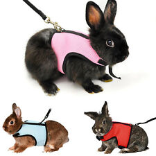 Cute Pink Hamster Rabbit Guinea Pig Rat Ferret Cat Breathable Harness Leash Lead