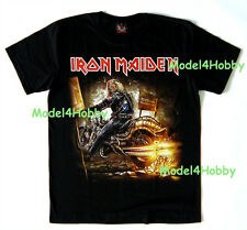 IRON MAIDEN T-Shirt Black S M L XL HEAVY METAL GHOST REAPER RIDER AUTOBIKE FLAME