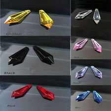 5Pcs Crystal Pendants Teardrop Faceted Glass Beads 38mm Multi-color optional