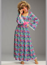 Ladies 70's Hippy Maxi Dress Flower Child Costume