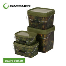 Gardner Tackle Square Camo Bait Buckets - Carp Barbel Pike Tench Coarse Fishing