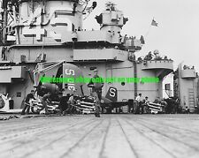 USN USS Valley Forge  CV-45 Black n White Photo Military Vought F4U-4B Fighter