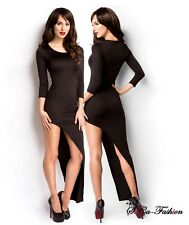 Sexy Jersey Party Dress tilted Club dress 3/4 Sleeves Salsa Crew neck Clubwear