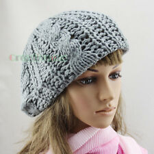 Fashion Women Girl's Striped Net Beanie Hat Knit Knitted Casual Hat Cap Beret