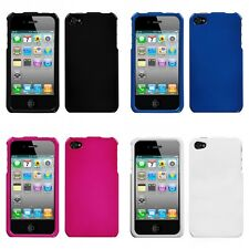 For Apple iPhone 4/4S Rigid Plastic Hard Snap-On Case Phone Cover