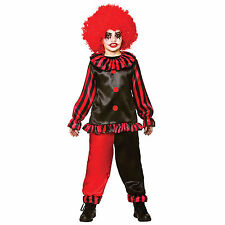 Boys Scary Evil Clown Circus Jester Halloween Fancy Dress Party Kids Costume