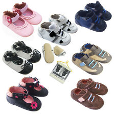Free Ship Baby Infant Toddler Kid Boy Girl First Walk Leather Rubber Shoes 0-2 Y