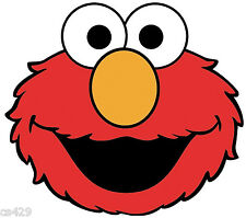 "5.5""-9.5"" Elmo sesame street face wall safe sticker border cut out character"