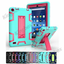 Shockproof Hybrid Heavy Duty Kickstand Armor Case Cover For Amazon Fire 7 HD 8.0