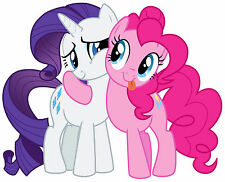 """6-10"""" MY LITTLE PONY RARITY HUG WALL STICKER GLOSSY BORDER CHARACTER CUT OUT"""