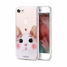 Lovely Corgi & Cat Pattern Relief Phone Case Cover for iPhone Samsung S6 S7 edge