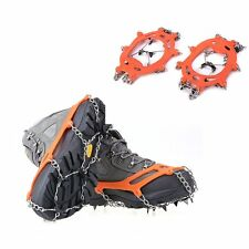 1Pair 8 Teeth Claws Crampons Ski Snow Cleats Climbing Non-slip Shoes Chain Cover