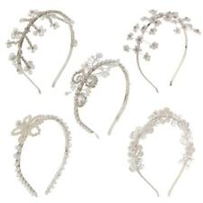 Bridal Crystal Floral Bead Pearl Hairband Tiara Headband Wedding Hair Accessory