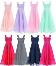 Flower girl Dress Summer Chiffon Long Gown For Wedding Holiday Party Pageant New
