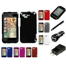 For HTC Rhyme / Bliss Rigid Plastic Hard Snap-On Case Phone Cover Charger Stylus