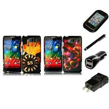 For Motorola Droid Razr HD XT926 Snap-On Design Rubberized Hard Case Charger