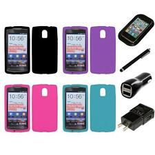 For Pantech Discover Silicone Skin Rubber Soft Case Phone Cover Charger Stylus
