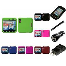 For Motorola Flipout MB511 Snap-On Hard Case Phone Cover Accessory Charger