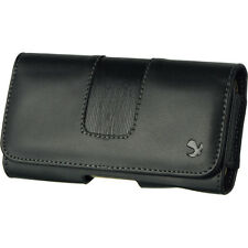Luxmo Premium Black PU Leather Belt Clip Holster Pouch Clip Case For Phones