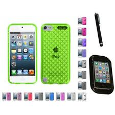 For Apple iPod Touch 5th 6th Gen TPU Rubber Skin Flexible Case Cover Mount+Pen
