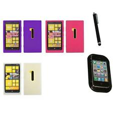For Nokia Lumia 920 Silicone Skin Rubber Soft Case Phone Cover Mount+Pen