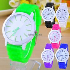 New Best Gift Classic Quartz Ladies/Womens/Girls Jelly Silicone Wrist Watch ED
