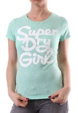 Superdry T-Shirt Women - SUPERDRY GIRL - Hot Mint Marl