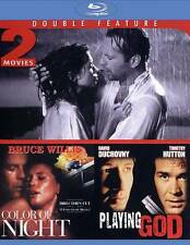 The Color of Night/Playing God (Blu-ray Disc, 2012) BRUCE WILLIS, DAVID DUCHOVNY