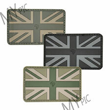 VIPER SUBDUED UNION JACK RUBBER PATCH - velcro uk special forces army flag badge