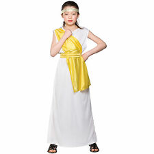 Girls Ancient Greek Girl Costume Fancy Dress Up Party Halloween Outfit Kid Child