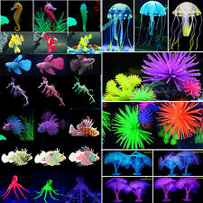 Aquarium Fish Tank Artificial Decorate Simulation Ornament Coral Jellyfish Plant