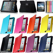 Magnetic Book Form Folio Leather Case Cover For Apple iPad 1 1st Generation Safe