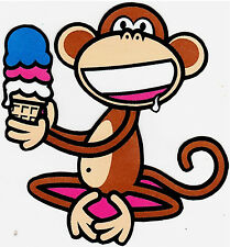 """5-8.5"""" BOBBY JACK MONKEY ICE CREAM WALL SAFE STICKER CHARACTER BORDER CUT OUT"""