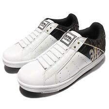 Royal Elastics Icon 1608 White Black Golden Mens Casual Shoes Sneakers 02063-092