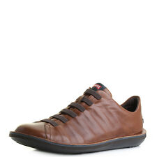Mens Camper Beetle Brown Leather Lace Up Casual Shoes Size