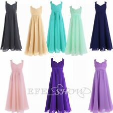 New Lace Chiffon Formal Bridesmaid dress Junior Flower Girl Dresses 4-14 Years