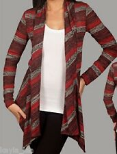 Red/Gray Stripe Drape Bolero/Shrug/Cardigan/Cover-Up
