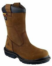 CAT Caterpillar Olton Rigger Mens Safety Pull On Work Boots Brown UK6-12