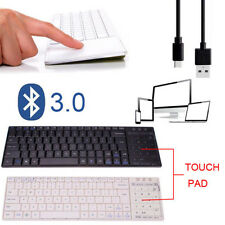 Bluetooth 3.0 Ultra Slim Mini Keyboard Touch Pad Mouse for iOS Windows Android
