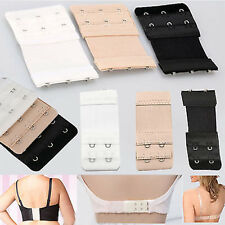 3Pcs Women 2/3 Hook Bra Extender Soft Bra Extension Strap Underwear sale ma