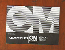OLYMPUS WINDER 2 INSTRUCTION BOOK/47433