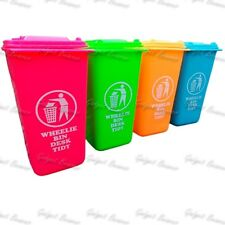 Neon Wheelie Bin Desk Tidy, Desktop Pen Pot, Stationary Pencil Novelty Holder
