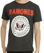 Ramones - Distressed Seal Logo Grey Heather T-shirt - BRAND NEW