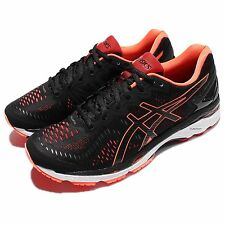 Asics Gel-Kayano 23 Black Orange Men Running Shoes Sneakers Trainers T646N-9030