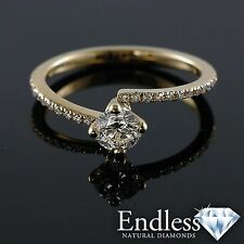 Natural Diamond Engagement Ring 14k Solid Gold 1.39 CT VS/G-H Size 6.5 Enhanced