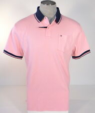 Tommy Hilfiger Classic Fit Pink Cotton Short Sleeve Polo Shirt Mens NWT
