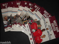 2010/11 WEST HAM HOME PROGRAMMES CHOOSE FROM