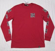 "LOVE MOSCHINO Mens ""LM"" Red Long-Sleeve Crewneck T-Shirt Size M, L"